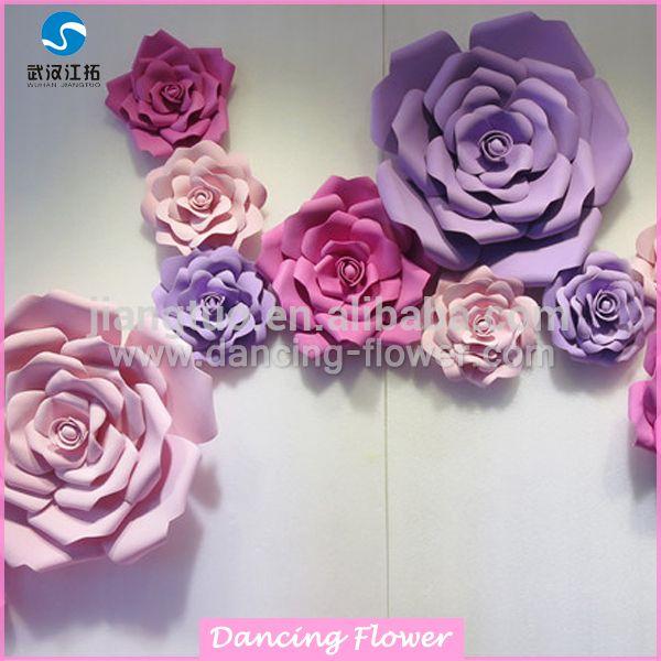 Handmade wall backdrop foam paper flower for wedding stage handmade wall backdrop foam paper flower for wedding stage decoration mightylinksfo