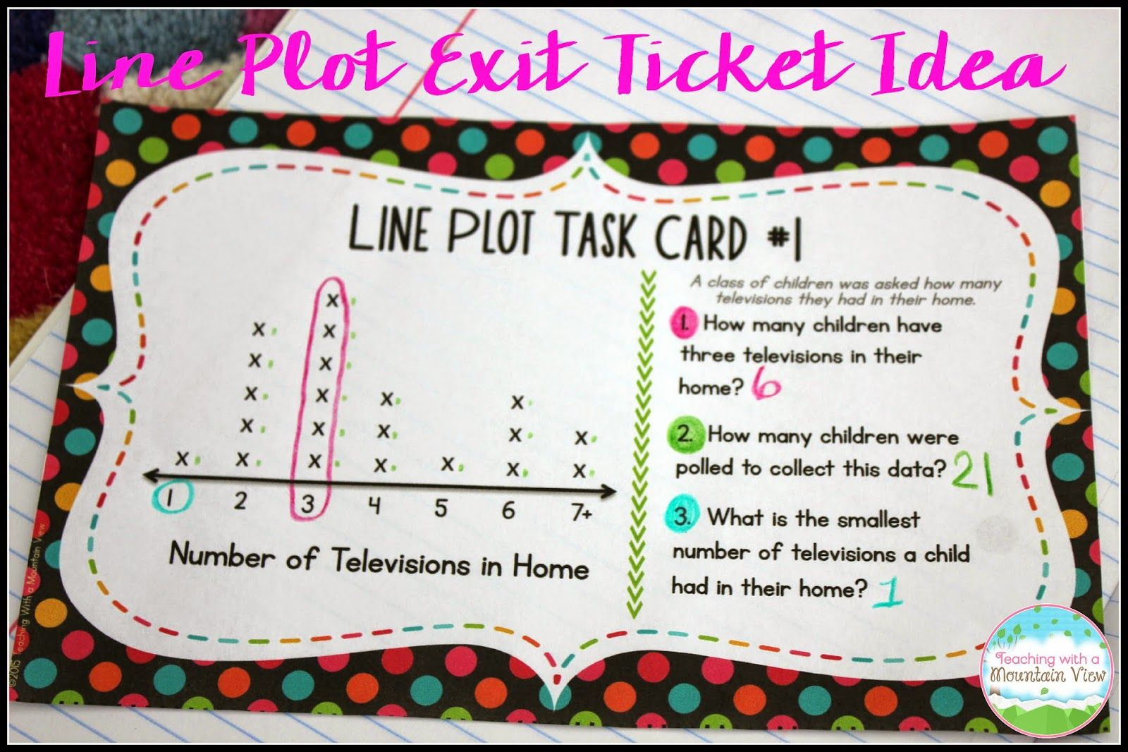 Line Plot Activities And Resources Teaching With A Mountain View Plot Activities Math Task Cards Math Work [ 1066 x 1600 Pixel ]