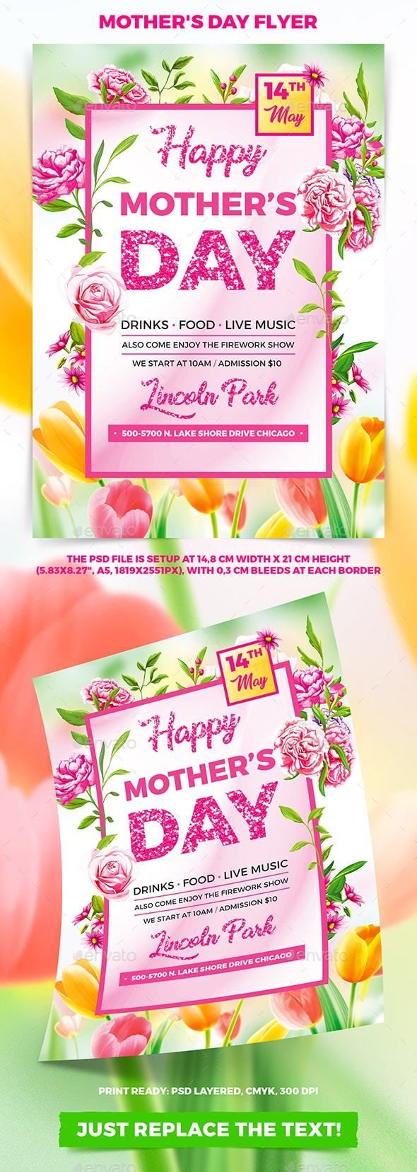 MotherS Day Flyer  Flyer Template Font Logo And Fonts