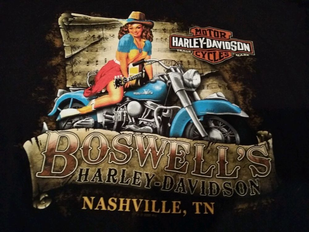 Harley Davidson Nashville >> Harley Davidson T Shirt Adult Xl Nashville Tn Boswell S