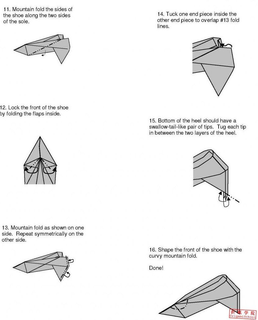 small resolution of origami shoes diagram wiring diagram tutorial high heeled shoes origami tutorial xinblog origami origamihigh heeled shoes