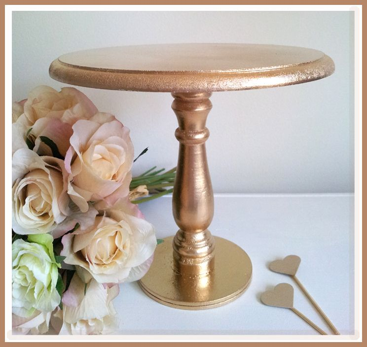 Gold Spray Cake Stand