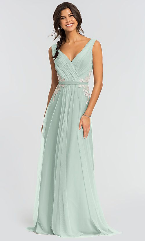 Kleinfeld Morning Mist Long Tulle Bridesmaid Dress: Limited Availability -   17 dress Bridesmaid tulle ideas