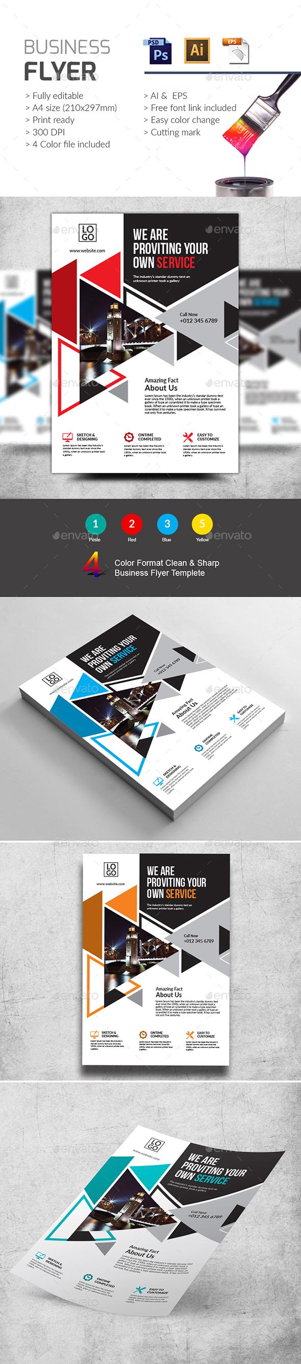 Business Flyer Template PSD, Vector EPS, AI Illustrator | Flyer ...