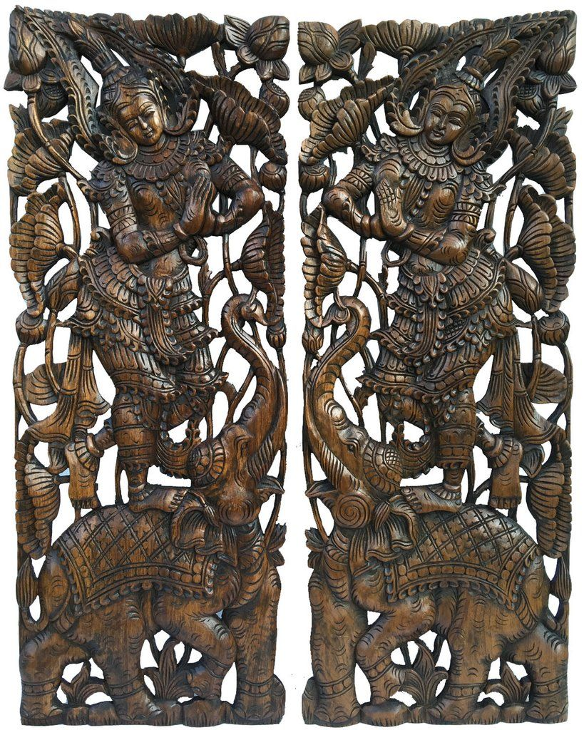 Traditional sawaddee thai figure and elephant large for Thailand home decor