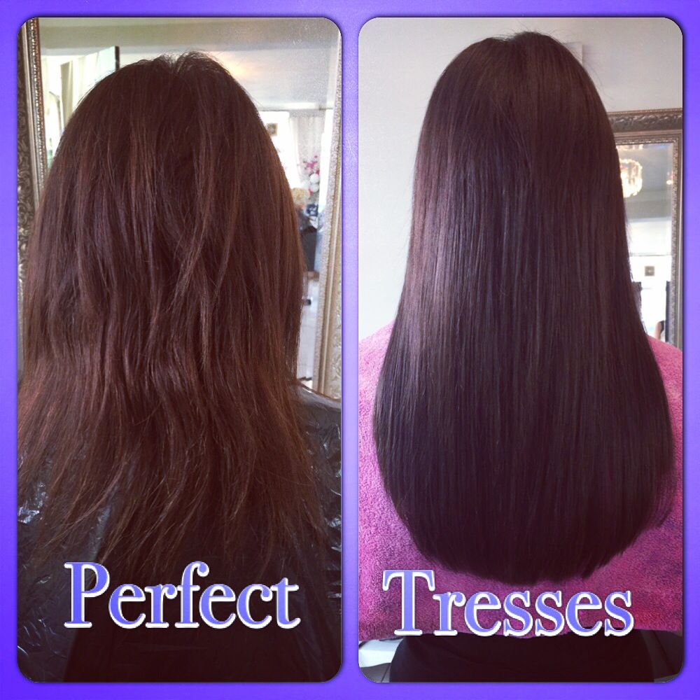 Ultra Sonic Cold Fusion Extensions Hair Extensions Before And