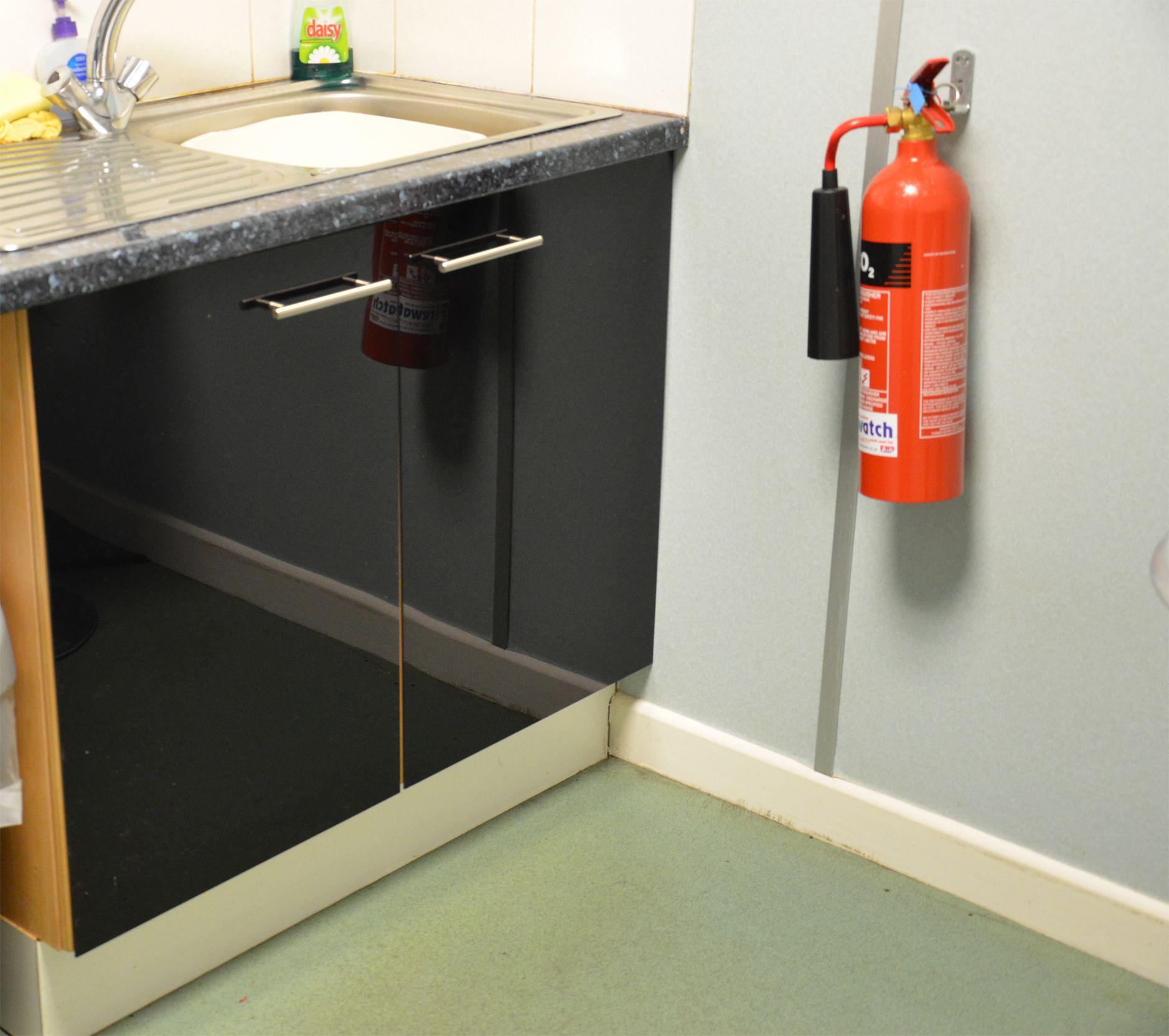 Black gloss acrylic kitchen door front. Kitchen doors