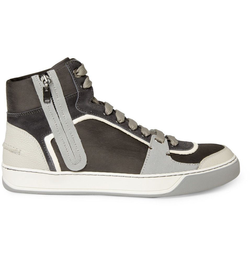 Leather/Suede Panelled Sneakers by Lanvin #Sneakers #Lanvin
