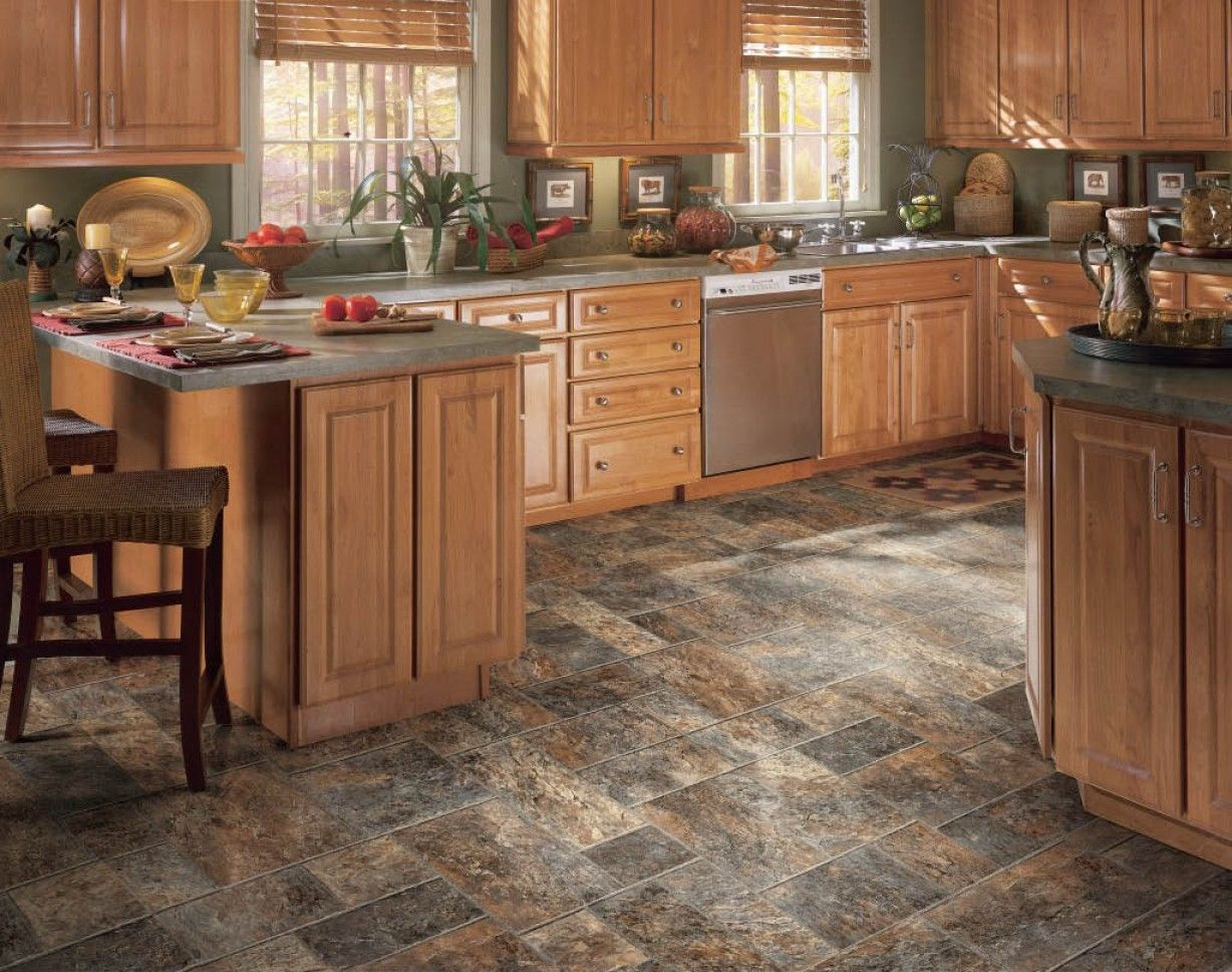 Image result for rustic grey kitchen flooring ideas for Rustic kitchen floor ideas