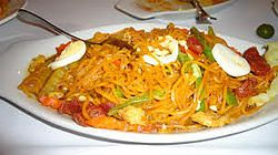 Philippine Combination Noodles with Chorizo