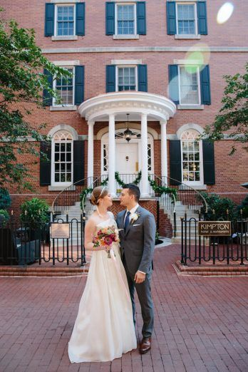Intimate Old Town Alexandria Wedding Outdoor Portraits Morrison House Gray Kammera Photography