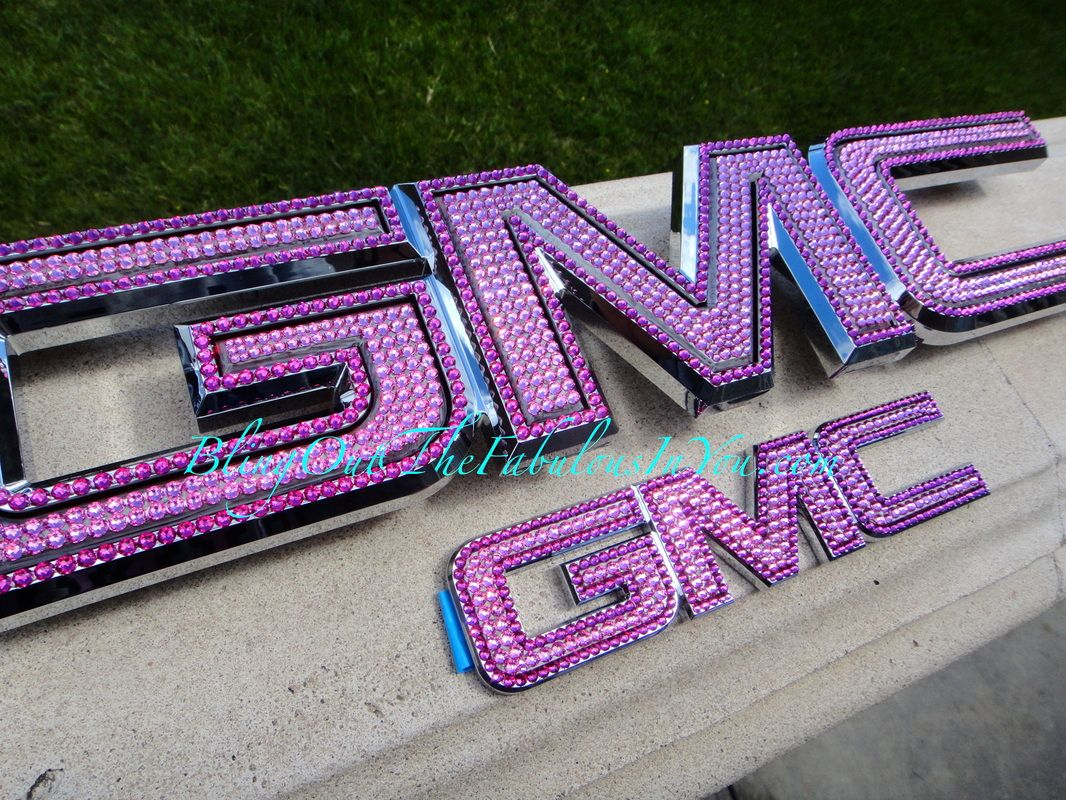 Blinged Out Purple Gmc Emblem Gmc Truck Accessories Gmc