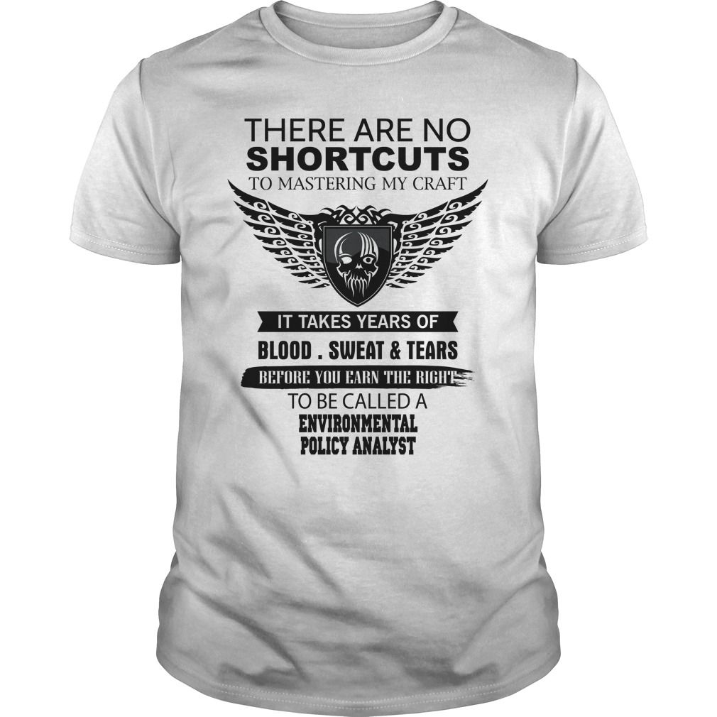 (Top Tshirt Charts) There Are No Shortcuts To Mastering My Craft ENVIRONMENTAL POLICY ANALYST [TShirt 2016] Hoodies, Tee Shirts