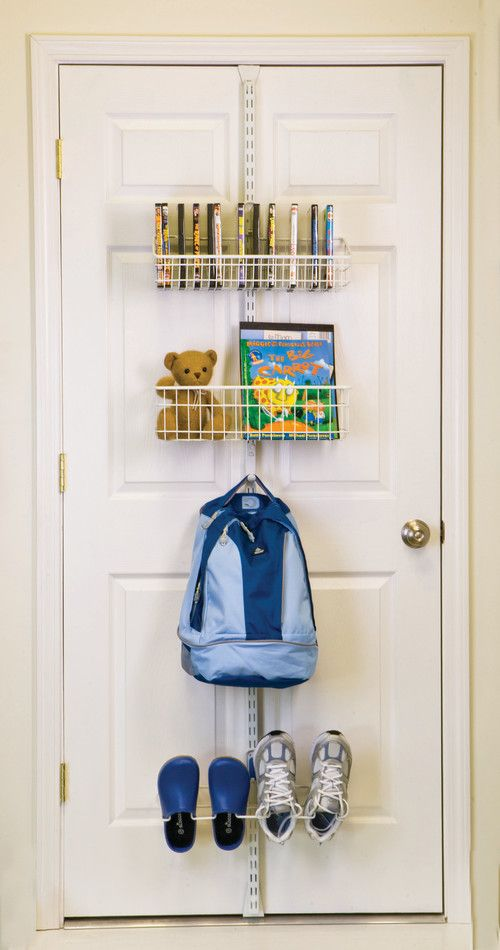 Amazing Using An Adjustable Organizer On The Back Of The Door Is A Good Way For Kids
