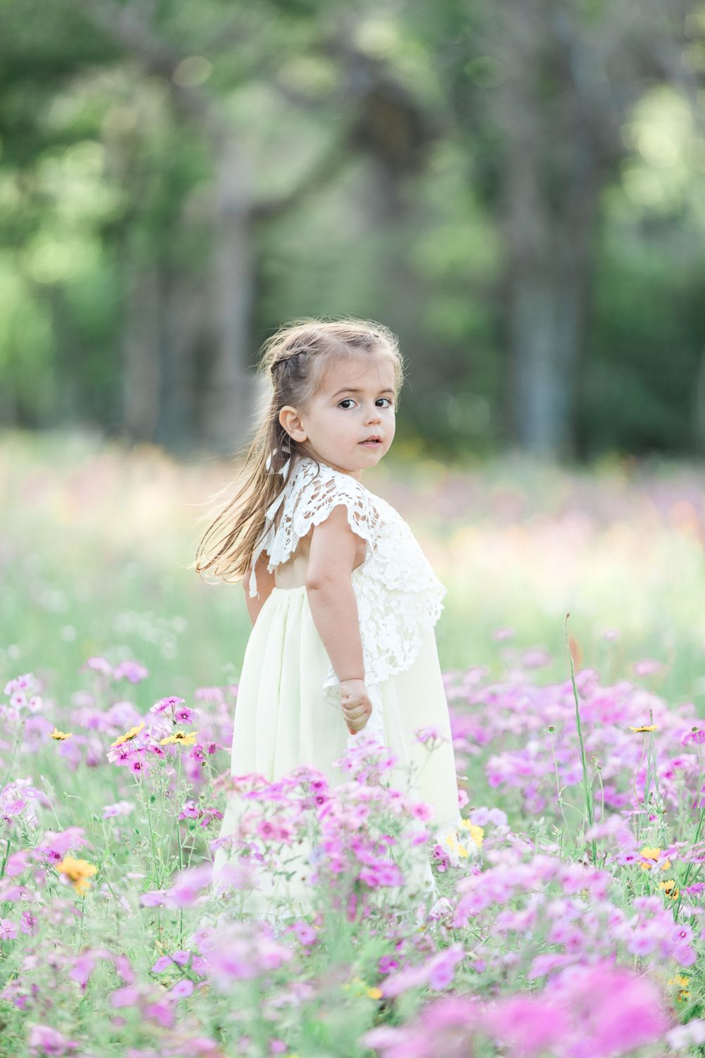 Family session in the flower field jacksonville and ponte
