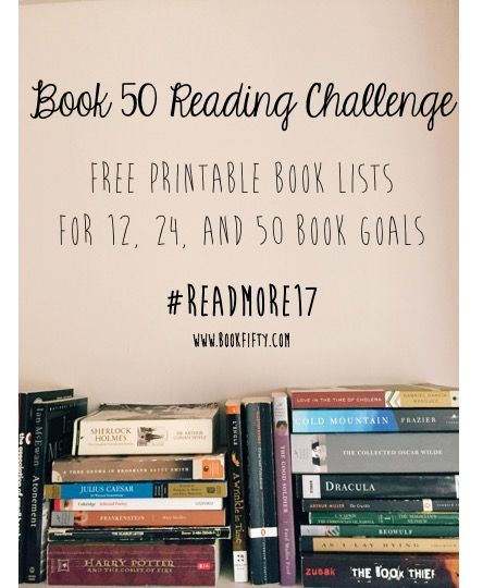 Ready to set a reading #goal for 2017? Here are three #free #printable lists for you to use as you get started!