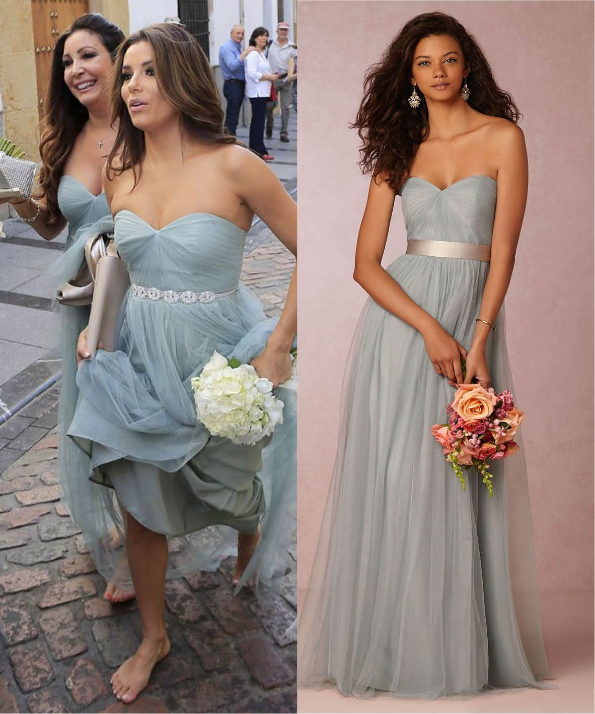 Celebrity bridesmaids steal their style cat wedding winter eva longoria as bridesmaid and bhldn dress celebrity bridesmaid more ombrellifo Images