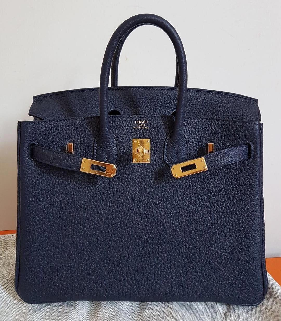11549ac2b293fc Hermes Birkin25 Blue Nuit Togo Ghw A  Burberryhandbags Burberry Handbags,  Hermes Handbags, Luxury