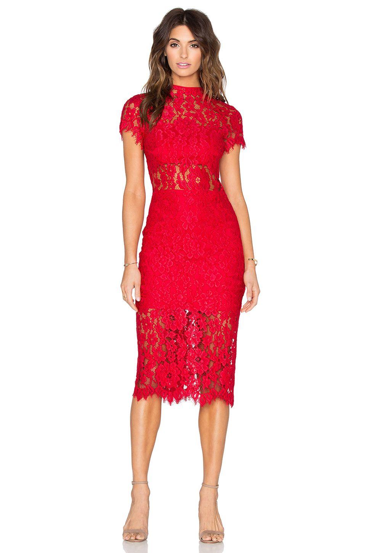 Alexis Leona Dress en Encaje rojo  19ad46d6561e