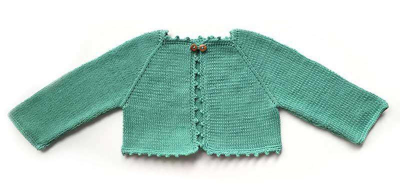 C mo tejer una rebeca de beb de punto a dos agujas babies tricot and baby knitting - Tejer chaqueta bebe 6 meses ...