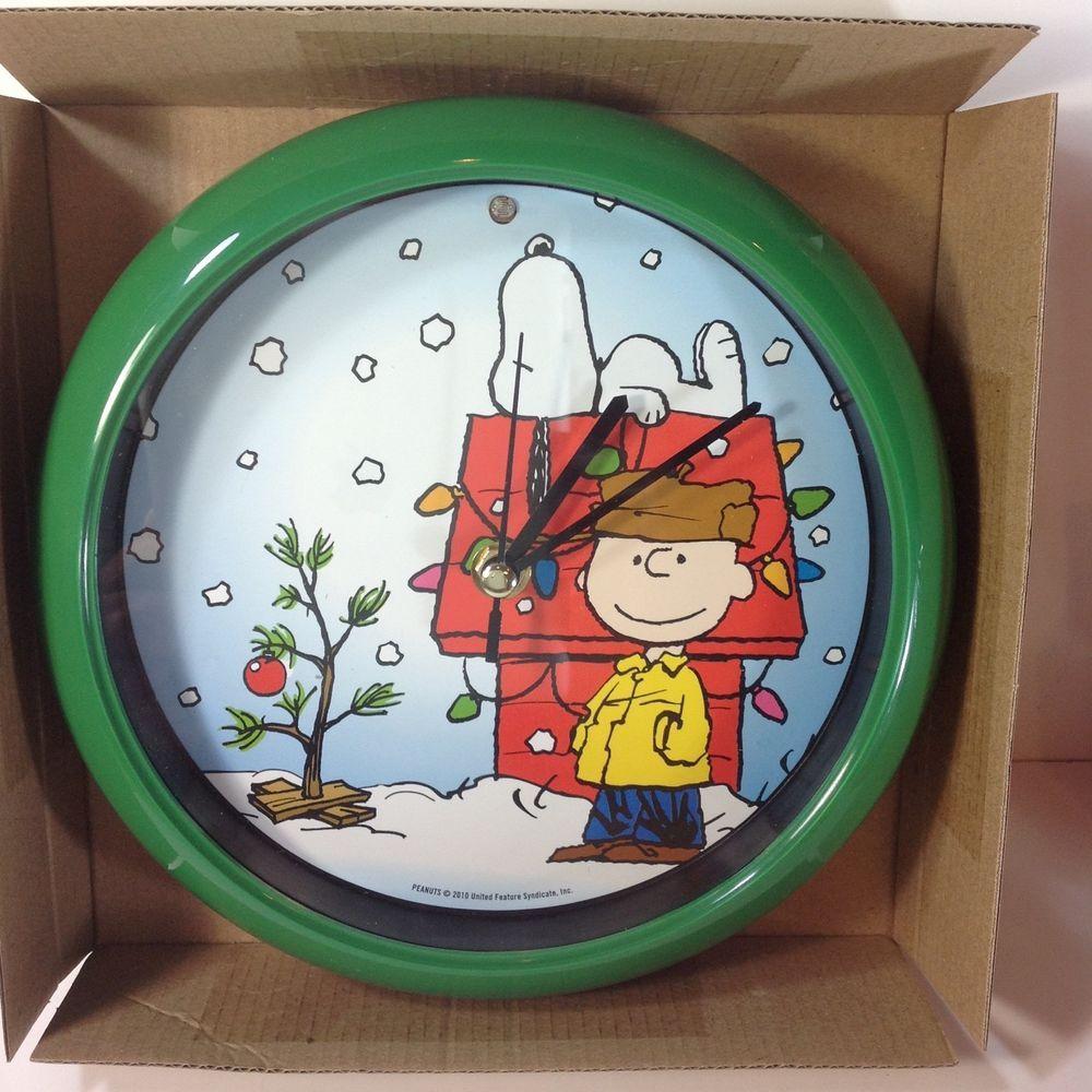 Charlie Brown Peanuts Christmas Carol Clock Plays Twelve ...