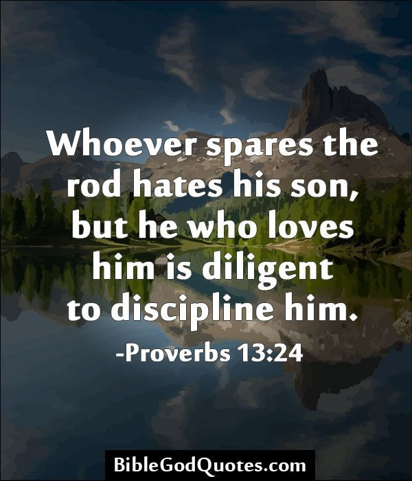 Bible verse for spank