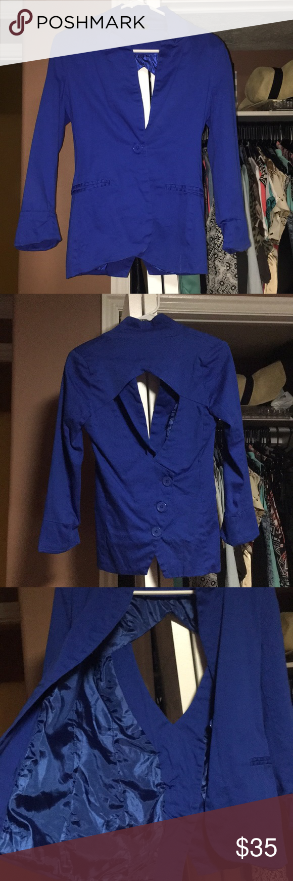 Blazer Royal blue back out blazer Size small Worn good condition Windsor Jackets & Coats Blazers