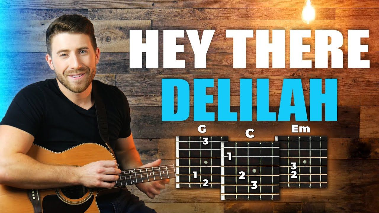 Hey there delilah guitar tutorial plain white ts easy