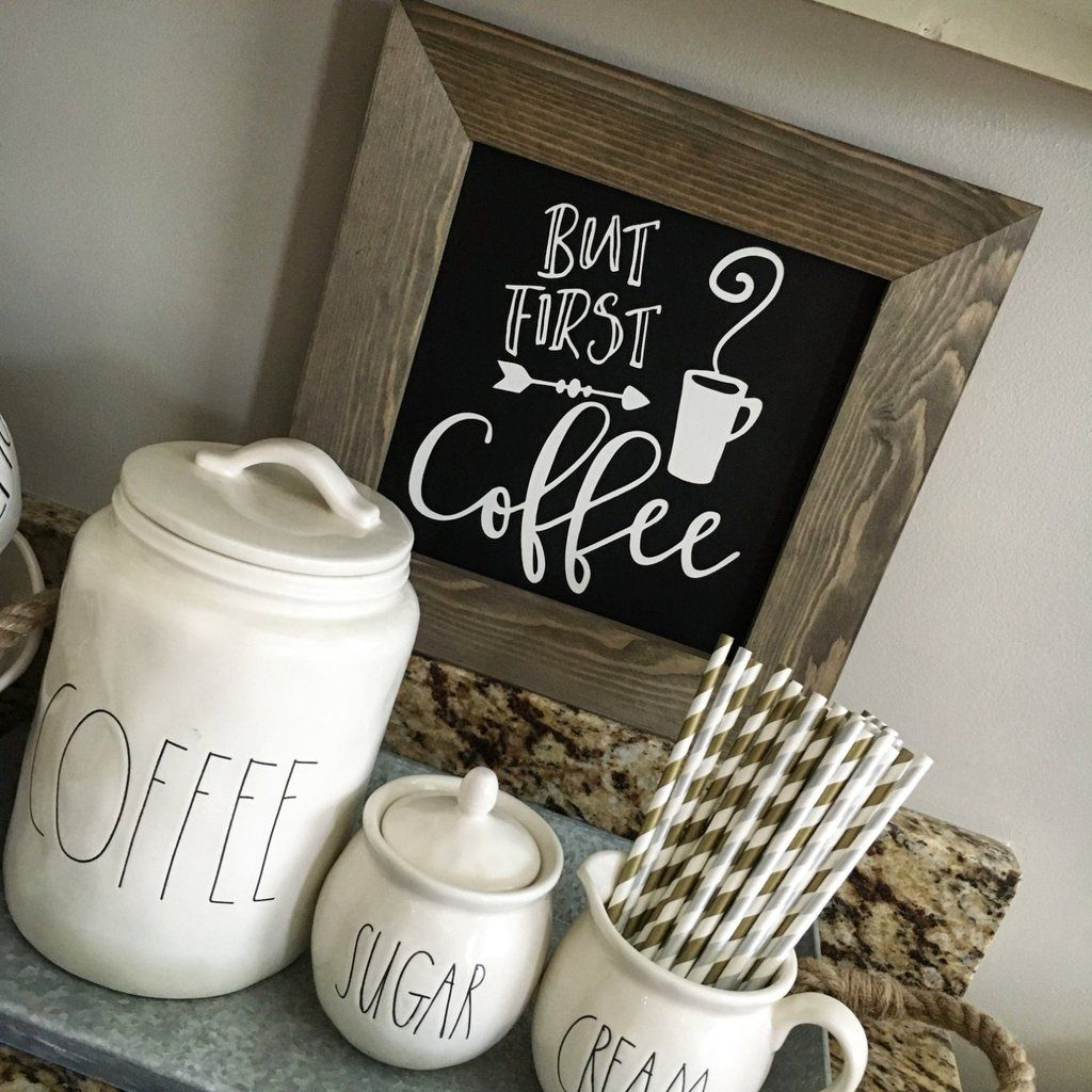But First Coffee Chalkboard Sign Coffee bar signs