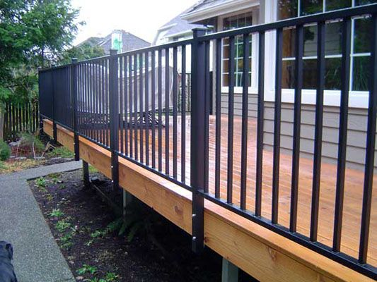 inspiring metal deck railing systems aluminum cost per linear foot lowes designs