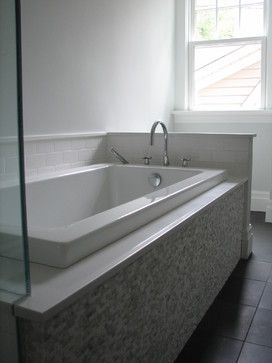 3 Tiles Including White Subway Drop In Tub Design Ideas Pictures