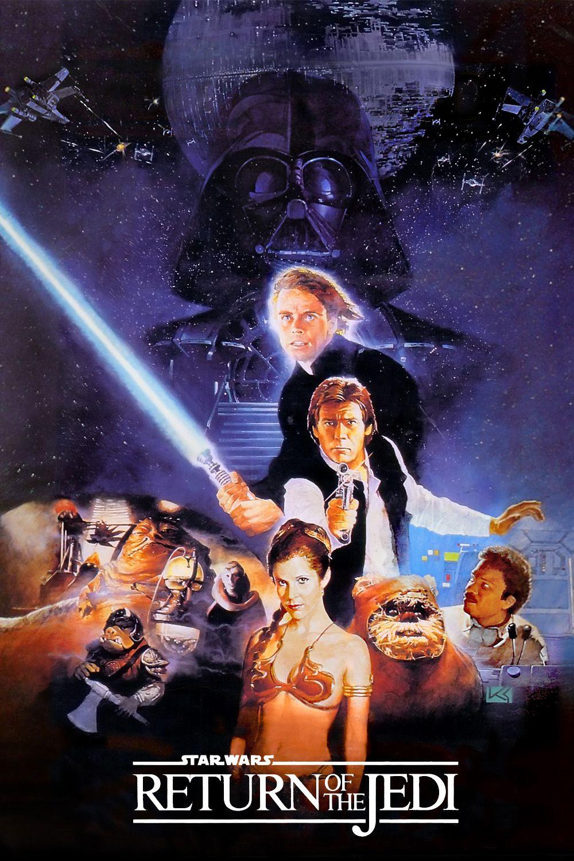 New Star Wars Episode VI Le Retour du Jedi Rétro T-shirt vintage classic shirt