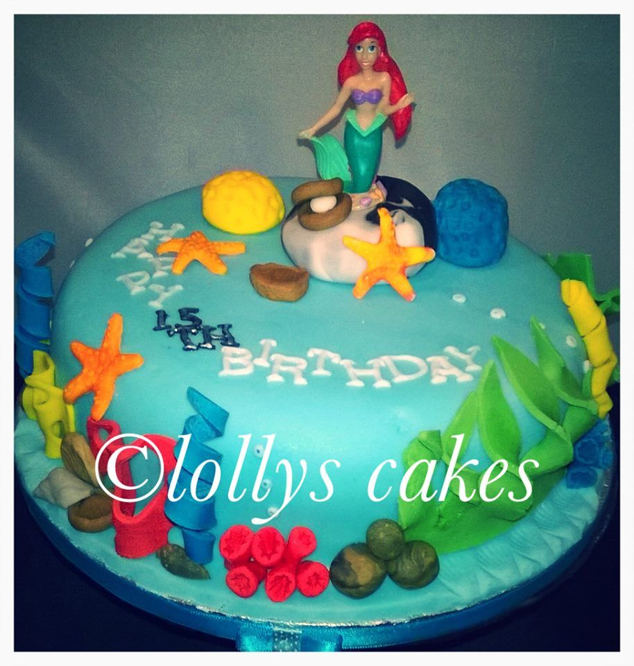 single tired little mermaid birthday cake bespoke custom cakes