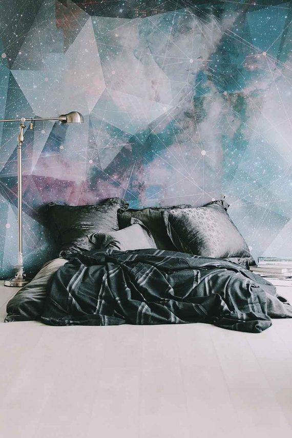 """Constellation Mural - Large Wall Mural, Space Mural, Graphic Illustration Wallpaper, 100"""" x 108"""""""
