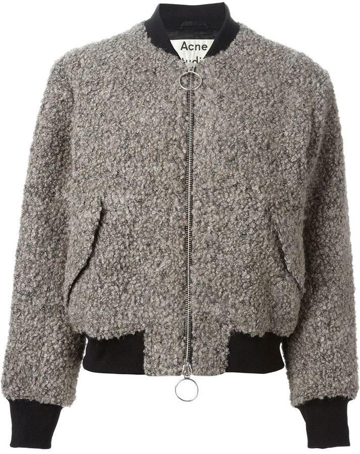 Acne Studios 'Tyson' bouclé bomber jacket on shopstyle.com