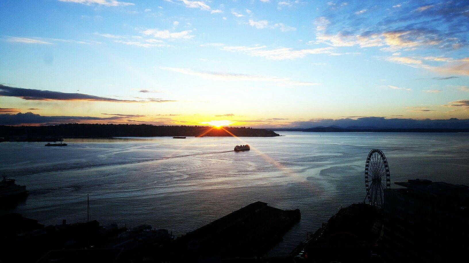 Seattle, Washington DC Sunset