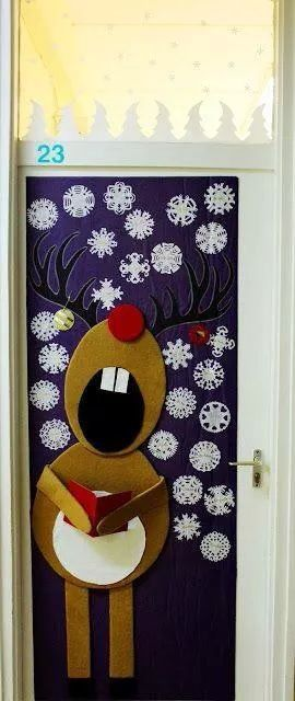 cute door decorations - Pinterest Christmas Door Decorations