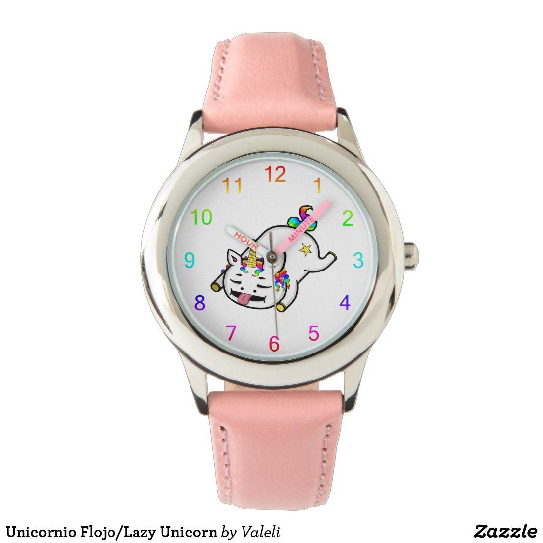 Reloj De Pulsera Unicornio Flojo/Lazy Unicorn | Zazzle com
