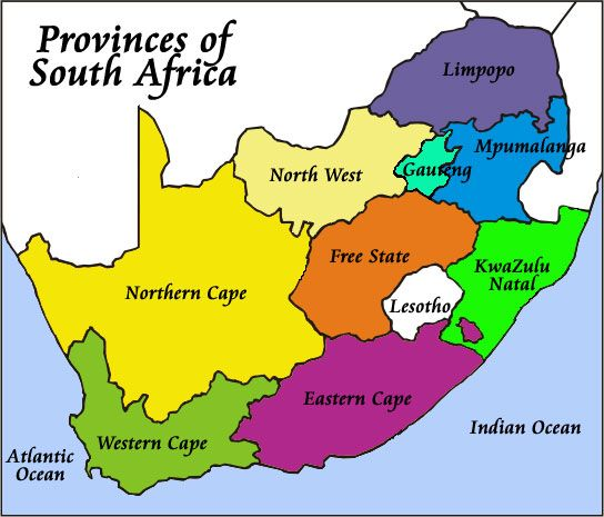 South Africa Map Provinces My blog