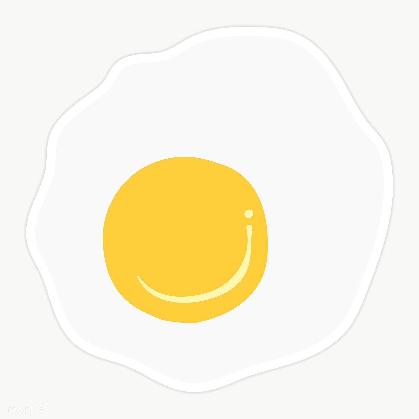 Illustration Fried Egg Isolated On Transparent Background Premium Image By Rawpixel Com Sasi Free Hand Drawing Egg Watercolor Fried Egg