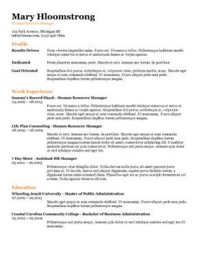 Online Resume Templates Free Ats Applicant Tracking System Optimized Resume Templates