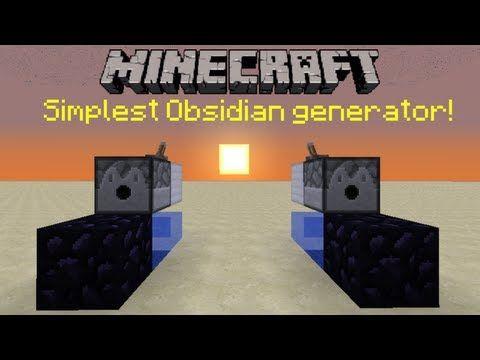 Minecraft Tutorial Simplest Obsidian Generator 1 4 7 Patched Youtube Minecraft All Minecraft Youtube