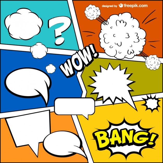 Comic Book Template Free Vector  Comic Template And Journal Ideas
