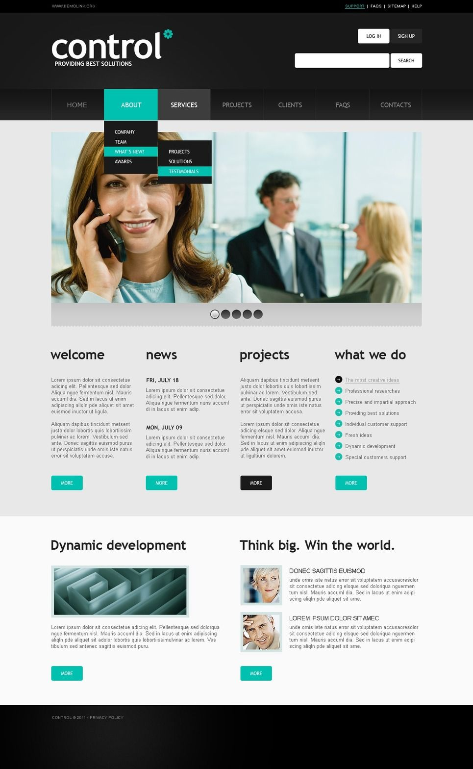 Business & Services PSD Template 56783 Psd templates