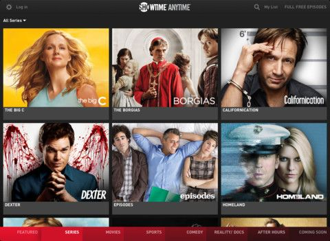 Showtime Anytime Showtime TV for the iPad (iPhone