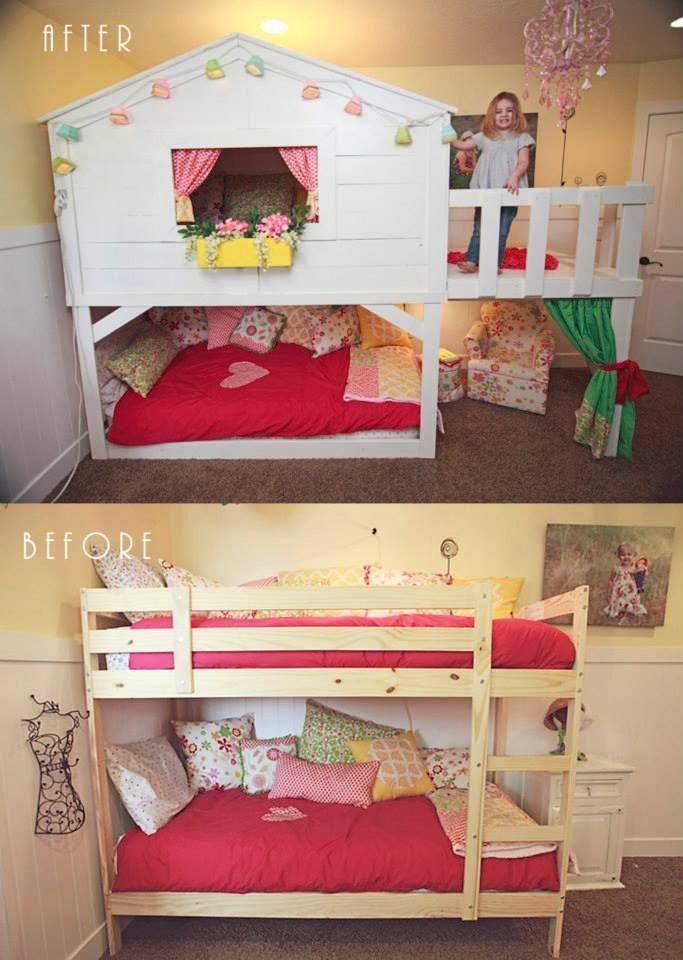 bunk beds with desk ikea hack google search kinderzimmer pinterest kinderzimmer. Black Bedroom Furniture Sets. Home Design Ideas
