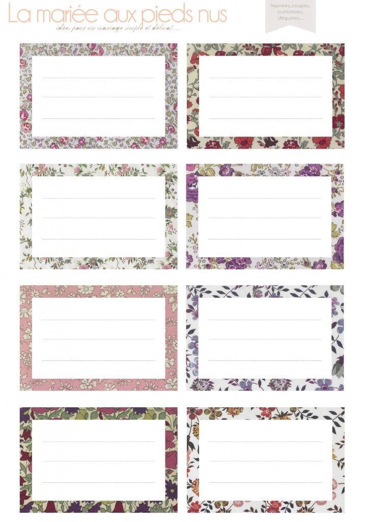 Exceptionnel Etiquettes liberty à imprimer | Etiquettes | Pinterest | Jolies  AN14