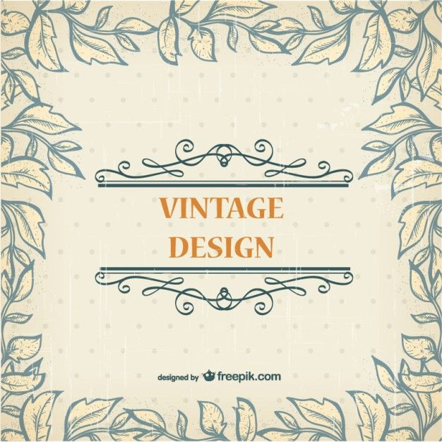 Plantilla vintage gratis Vector Gratis | vinilos | Pinterest