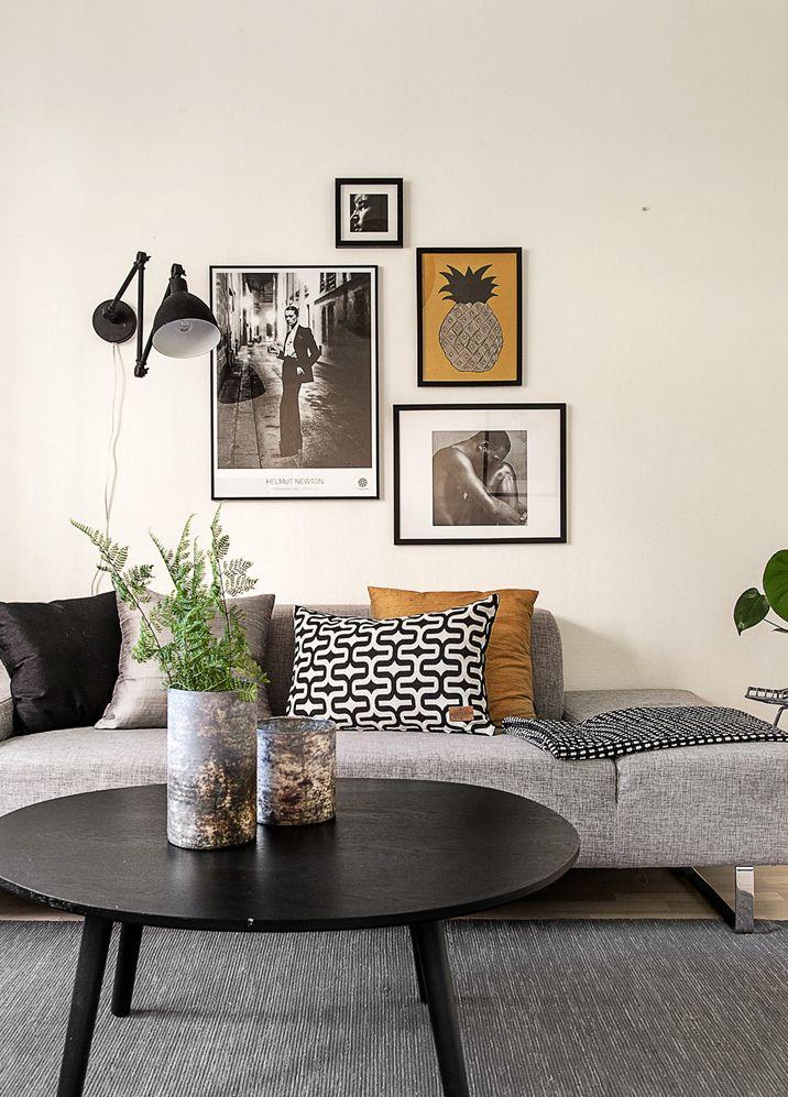 Les petites surfaces du jour : couleurs sombres pour un studio ...