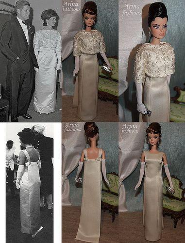 Jacqueline Kennedy ivory evening dress | Bastelarbeiten